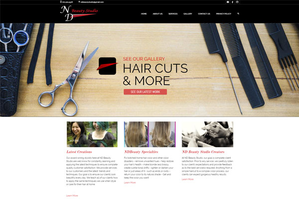 Beauty Salon Wordpress Website